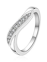 Xu™ Women's Diamonds 925 Silver Plated The geometric Ring(Color Preserving More Than A Year)