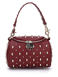 Rivet Skull One Shoulder His Handbag