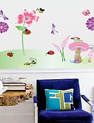 наклейки для стен стены наклейки наклейки стиль стрекоза цветок трава ПВХ стены