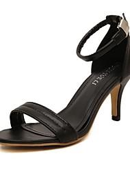 Zapatos de mujer - Tacón Stiletto - Tacones / Comfort - Sandalias - Oficina y Trabajo / Vestido / Fiesta y Noche - Semicuero -Negro /