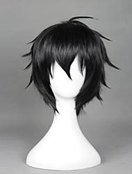Perucas de Cosplay Serafim do Fim Fantasias Preto Curto Anime Perucas de Cosplay 32 CM Fibra Resistente ao Calor Masculino / Feminino
