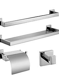 Badezimmer Zubehörset/Handtuchstangen/Klosettpapierrollehalter/Robehaken/Glasablage Zeitgenössisch - Wand befestigend
