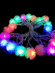 2w 4 metro di diametro esterno 20pcs lampadina led modellazione illuminazione stringa luci peluche, color rgb