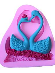 Bakeware Silicone Swan Couple Fondant Mold Cake Decoration Mold