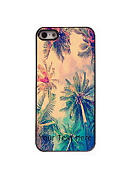 Personalized Gift Coconut Tree Design Aluminum Hard Case for iPhone 4/4S