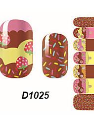 Fashion Ice Cream Nail Art Glitter Sticker