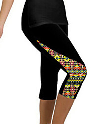 Women's Fashion Print Fitness Active Skinny Pants