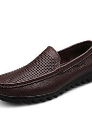 Zapatos de Hombre Mocasines Casual Cuero Negro / Marrón