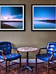 e-Home® arte lienzo enmarcado, paisaje marino conjunto de impresión lienzo enmarcado de 2