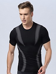 Men's Tight Body Shaping Light Pressure Comfortable Breathable Quick Dry Sport Short Sleeved