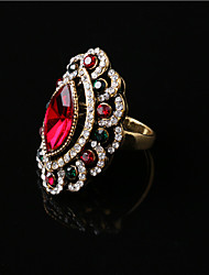 Alloy Vintage Gemstone Statement Rings Party/Daily 1pc