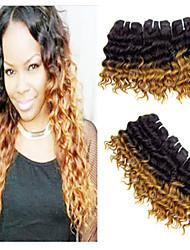 Pc 1 lotto capelli vergini brasiliani # 27 dell'onda profonda dei capelli umani del tessuto ombre riccio prodotti per capelli 8-24 pollici