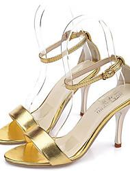 Stiletto - 6-9cm - Damenschuhe - Pumps/Heels Gold/Silber )