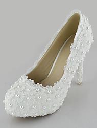 Women's Shoes Stiletto Heel Heels Pearl Pumps/Heels Wedding/Party & Evening/Dress White