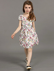 2105 nova kids clothes summer baby Girl dress flower patchwork Maxi tutu dresses kids clothes children clothing