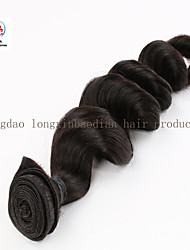 """Facrory price 16"""" Machine Weft Indian Remy Virgin Hair Loose WaveHair Extension"""
