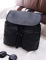 Women Casual PU Button Backpacks