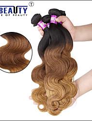 """1 pc / lotto 16 """"24"""" 7 bis 3t capelli umani vergini brasiliani dell'onda del corpo dei capelli trame di 100% capelli non trattati remy"""