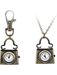 Unique Retro Style High Quality Creative Bag Pendant Pocket Watch Ring Chain Watch For Men Women Students Gift