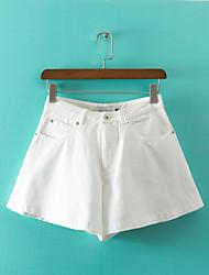 De las mujeres Pantalones Hasta la Bota - Vintage/Casual/Para Trabajo Microelástico - Denim