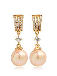 Damen Ohrring Messing Künstliche Perle/Kubikzirkonia Drop Earrings