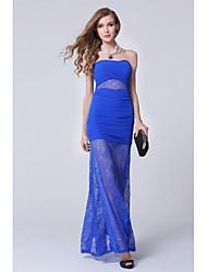 Formal Evening Dress Sheath/Column Strapless Floor-length Dress