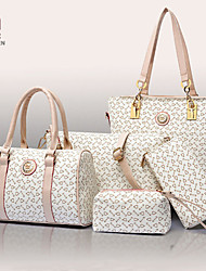 Handcee® Best Seller Women PU Fashion 5 Pieces Bag in Bag