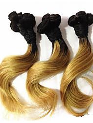 """1 peças lote 8 cabelo """"brazilian virgem ombre # 27 de extensões de cabelo humano madeixas de cabelo onda brasileira novo estilo"""