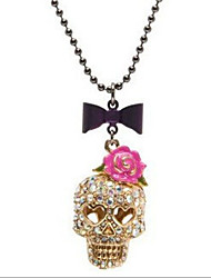 New Arrival Fashional Hot Selling Popular Skull Rose Necklace
