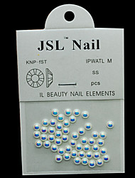 Pearl4mm 50pcs/lot AB Color Half Round Pearls 4mm Imported Pearls Nail Decorations Wheel Rhinestone Nail Art