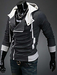 Men's Casual/Work/Formal/Sport Print Long Sleeve Regular Polos (Cotton/Cotton Blends/Polyester)