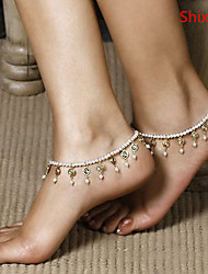 Shixin® Imitation Pearl Anklet Daily/Casual 1pc