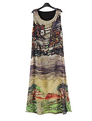 Dymona Women's Beach/Print Sleeveless Dresses