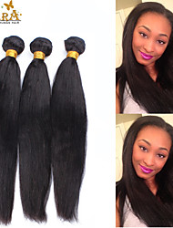 3 Pcs/Lot10-26 Eurasian Virgin Hair Weft Yaki Straight Natural Black Unprocessed Remy Human Hair weave Boundles