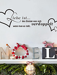 Wall Stickers Wall Decals , Liebe ist German Words & Quotes PVC Wall Stickers