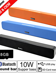 Besteye® 8GB TF Card and G-807P 10W HIFI Sound Bar Speakers FM Aux remote control Stereo Bluetooth Speaks Wireless