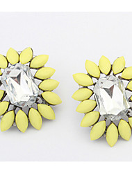 Haha New Arrival Fashion Popular Geometrci Cem Crystal Earrings