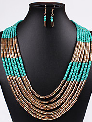 Women Vintage/Party/Work/Casual Alloy/Cubic Zirconia Necklace/Earrings Sets