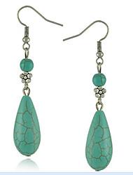 MPL Folk style retro Turquoise Teardrop Earrings