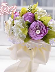Peony Bride Holding Flowers