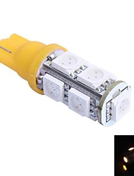 T10 2W 200LM 9x5050 SMD LED Color Red/Yellow/Blue/Green/Cool/Warm Light (DC 12V,, 1Pcs)