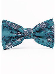 Dark Green Decorative Pattern Men Bow Ties