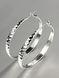 2015 New Products 2015 Italy Style Silver Plated Africa Design Hoop Earrings Fine Statement Jewelry