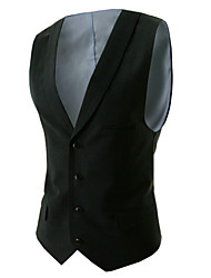 liveshow,Men's Suits & Blazers , Cotton/Rayon Sleeveless Vintage/Casual/Party/Work liveshow