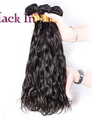 """3 pcs lote 12 """"-30"""" brasileiros onda naturais tramas do cabelo naturais virgens remy preto tecer cabelo humano emaranhado livre"""
