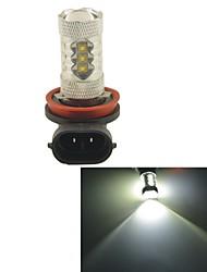 carking ™ h8 / h11 80w 6000k 16smd 2800 ml lumière blanche conduit brouillard ampoule lampe de tête de la lumière de conduite (dc 12v)