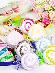Cute Swirly Lollipop Cake Hand Towel Cotton 2 Pack Wedding Favors (Random Color)