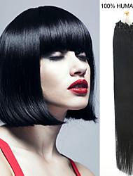 18-Zoll remy Mikroring / Schleifenhaar 0,5 g / s Echthaar Haarverlängerungen 18 Farben für Frauen Schönheit