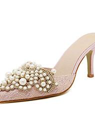 Women's Shoes Stiletto Heel Heels Sandals Casual Yellow/Pink/Silver