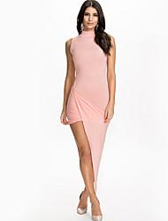 Women  Standard Neck Sleevle Irregular Dress